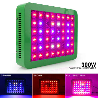 Dimmable 300W LED Grow Light Full Spectrum Lamp For Hydroponic Plant Veg Bloom