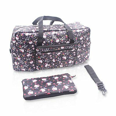 a6cc28b8a0a7 FINEX HELLO KITTY Foldable Travel Bag with adjustable strap Random Black  Large