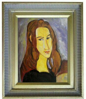 Framed Modigliani Portrait of Jeanne, Quality Hand Painted Oil Painting 8x10in
