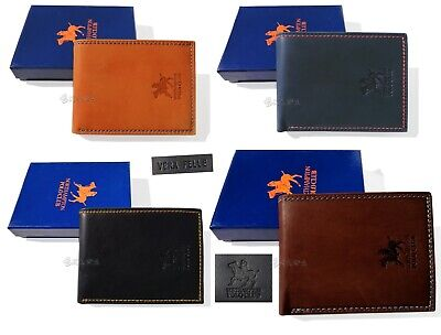 Men's wallet real leather Northampton Polo Club coin purse credit card holder