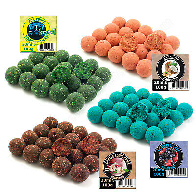 Carp Fishing Boilies 20mm Fruits Spices Coconuts Garlic Hook Hair Rigs Bait