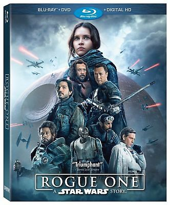 Rogue One: A Star Wars Story (Blu-ray/DVD, 2017, 3-Disc Set, Includes Digital HD