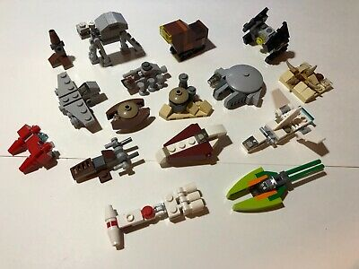 16 Lego Star Wars Lot Micro Build Ships And Vehicles Lot From Advent