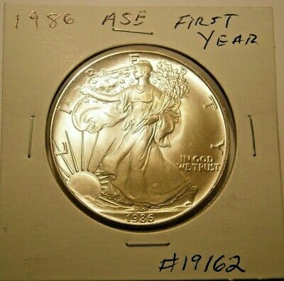 1986 American Silver Eagle BU 1st Year Choice+++Uncirculated 1 Oz. Silver #19162