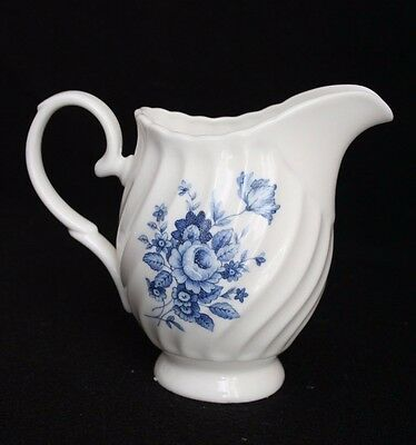 Vintage Butterfly China England Blue and White Creamer