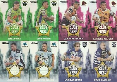 2019 Nrl Traders Club Heroes Trading Cards - Full Set Of 32, Lewis, Ponga, Smith