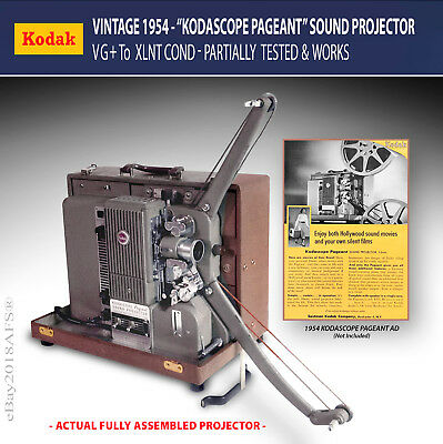 1954 KODASCOPE PAGEANT 16mm Sound Projector • Model 1 • VG+ to XLNT