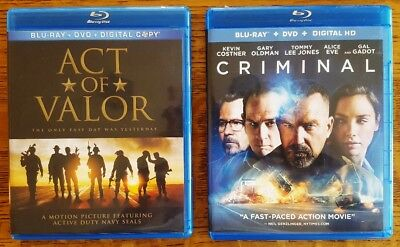 Two Blu-Rays!  Act of Valor / Criminal