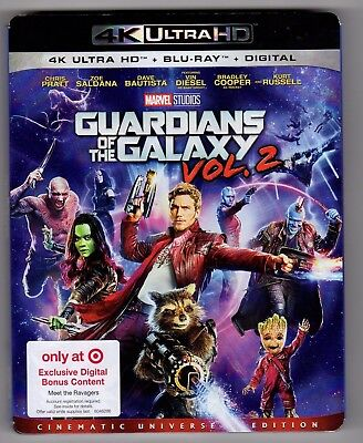 Guardians Of The Galaxy Vol.2 (4K+Bluray NO Digital) Target Exclusive *LIKE NEW*