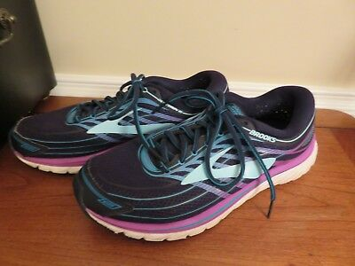 huge selection of 2f03f 5d84d BROOKS GLYCERIN 15 Womens US 10.5 W Eur 42.5 Running Shoes Navy Blue Purple