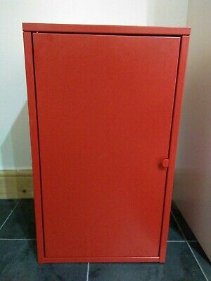 IKEA Lixhult Cabinet Metal Red 35x60cm Home Office Storage Living