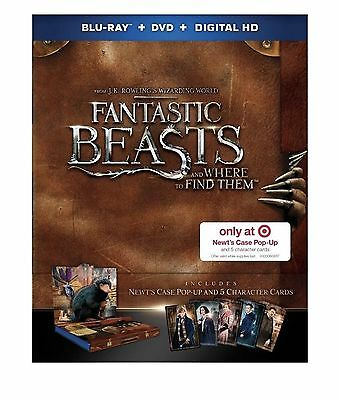 Fantastic Beasts And Where To Find Them(Blu-Ray/dvd/digital)Target Exclusive-New