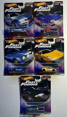 2019 Hot Wheels Fast And Furious Premium Real Riders Fast Imports Series SET 1-5