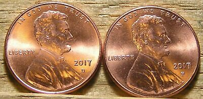 Now In     2017  P&d   Lincoln .cent Shield Penny   Mint Luster
