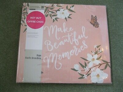 "Recollections - Scrapbook ""Make Beautiful Memories"" Album  30 12x12 pages BNWT"