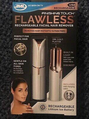 JML Finishing Touch Flawless Facial Hair Remover Epilator USB Rechargeable
