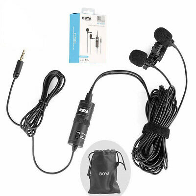 BOYA BY-M1DM Dual Omni-directional Lavalier Microphone for Sony a6500 a6400