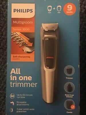 Philips Series 3000 9-in-1 Multi-Grooming Bear Hair & Nose Trimmer - Brand New