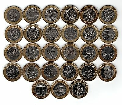 £2 RARE Two Pound Coin Collection, Mary Rose, Navy, Olympic, Magna Carter.