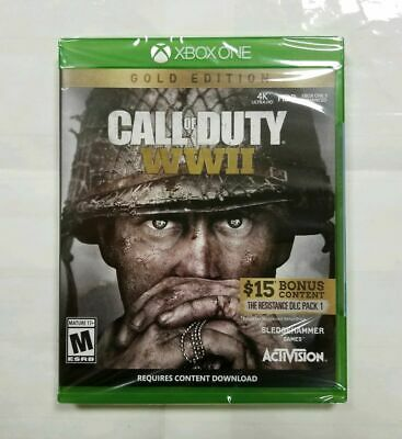 """Call of Duty: WWII *Gold Edition* (Microsoft Xbox One, 2017) """"NEW/SEALED"""" XB1"""
