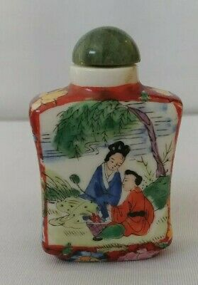 Beautiful hand painted Ancient Chinese snuff bottle Perfume Bottle Rare