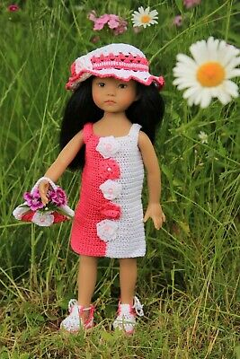 Summer two color outfit for dolls Dianna Effner Little Darling 13 ""