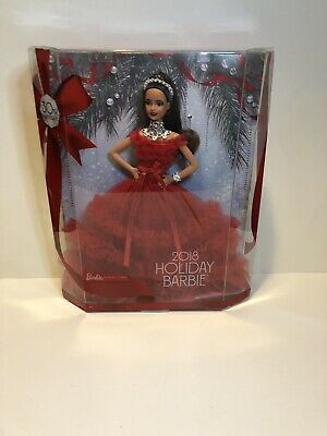 Barbie 2018 Holiday Barbie Brunette Ponytail 30th Anniversary Doll Collectors