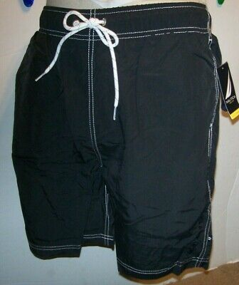 257cffa285 NEW Nautica swim trunks shorts solid black swimsuit Medium 34 XL 38 40 2XL  42