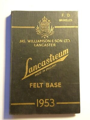 Lancastreum Felt Base Williamson 1953 Old Catalog