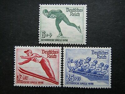 Germany Nazi 1935 Stamps MNH Winter Olympic Third Reich Deutschland German Games