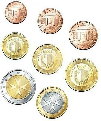 °  Malte - Serie 2008 - Set De  8 Pieces - Neuves  -  Unc