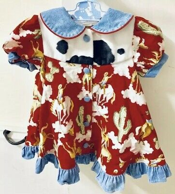 Vintage The Julie Tennant Collection Cow Girl Girls Dress Made In USA 12 Months