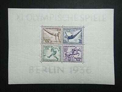 Germany Nazi 1936 Stamps MNH Sheet Summer Olympic Berlin Third Reich German Deut