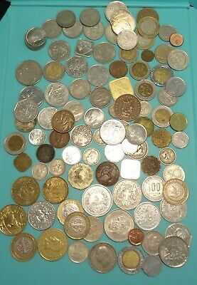 Lot Of International Coins Foreign World Some Rare Some Silver