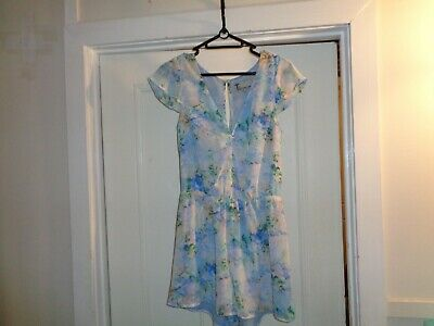 BETTINA LIANO Size 8 summer floral dress/shorts styled, preowned & in great cond