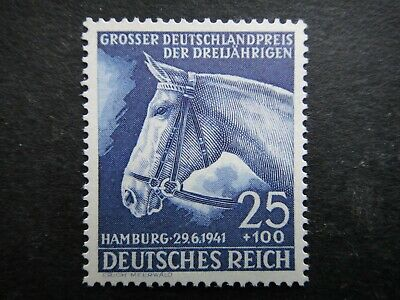 Germany Nazi 1941 Stamp MNH Race Horse Third Reich Deutschland German WWII