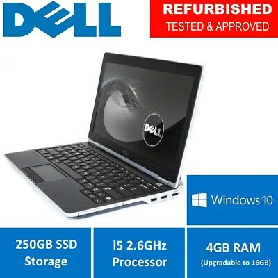 Cheap Study Gaming laptop DELL Intel i5 2.6GHz Windows 10 250GB SSD FREE POSTAGE
