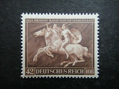 Germany Nazi 1941 Stamp MNH Brown Ribbon Amazons Third Reich Deutschland German