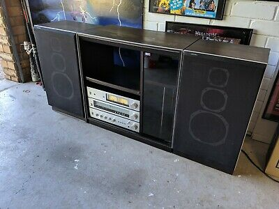 Vintage Phillips Stereo, Amplifiers, Tuner, Cabinet And Matching Speakers