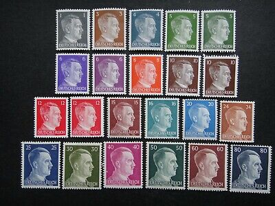 Germany Nazi 1941 - 1944 Stamps MNH Adolf Hitler Third Reich Deutschland German