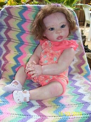 "Reborn Baby Doll, Violet. Thomas Duprat.  Full Body  22""."