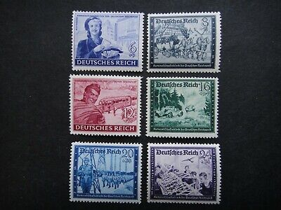 Germany Nazi 1944 Stamps MNH Woman Mail Carrier Field Post Third Reich Deutschla
