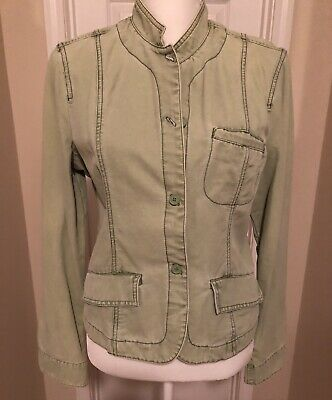 89ea3d7b197c7 MOSSIMO SUPPLY CO. Green Button Up Casual Womens Jacket Size Large ...