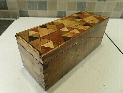 Lovely Antique Desk Box Inlaid With Specimen Woods - Possible Apprentice Piece