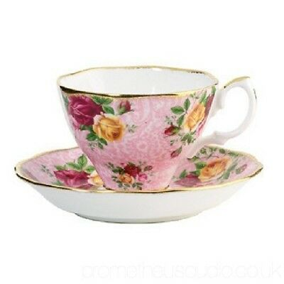 Beautiful Royal Albert Old Country Roses OCR Cup & Saucer Dusky Pink New in Box