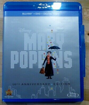 Mary Poppins (Blu-ray/DVD, 2013, 2-Disc Set, 50th Anniversary Edition)