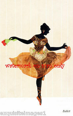 Ballerina~Art Deco~Silhouette~ NEW Large Note Cards