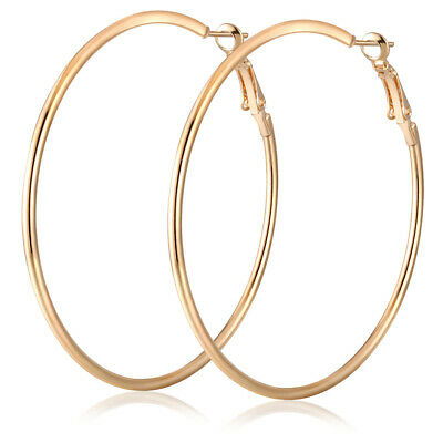 Big Round Women Hoop Earrings Pendant Charm Silver Gold Jewelry Gift Bohemia