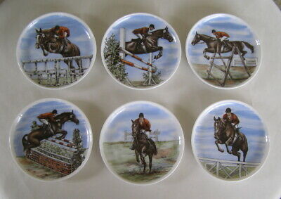 6 AK KAISER W. Germany Horse Hunter Jumper Showjumping Bridle Coasters Plates