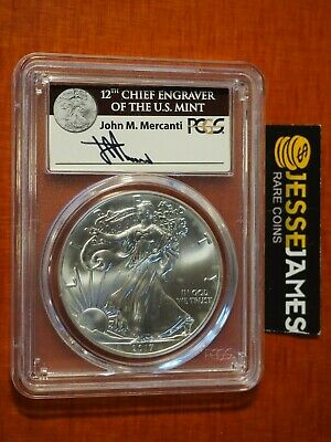 2017 (W) Silver Eagle Pcgs Ms70 First Strike Mercanti 'struck At West Point'